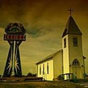 Church And Casino Those Two Angels  Art Print
