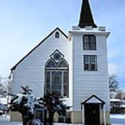 Paramus Nj - Church And Steeplechurch And Steeple Art Print