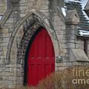Church And The Red Door Art Print