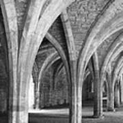Church Archways In Black And White Art Print