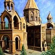 Church At Etchmiazin Art Print