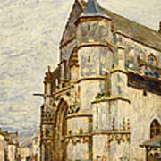 Church At Moret After The Rain Art Print