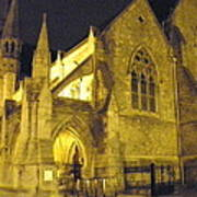 Church At Night Art Print