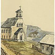 Church At Rejkjavik Iceland 1862 Art Print