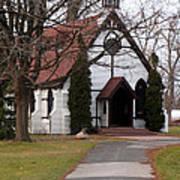 Church At The Lake Art Print