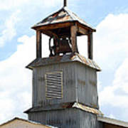 Church Bell Tower In Truchas In New Mexico Art Print