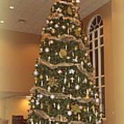 Church Christmas Tree Art Print