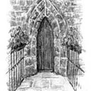 English Church Door Art Print