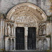 Church Entrance - St  Thibault Art Print