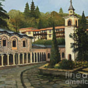 Church In Blagoevgrad Art Print by Kiril Stanchev