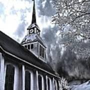 Church In Kuusamo Finland Art Print