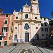 church in Sori. Italy Art Print