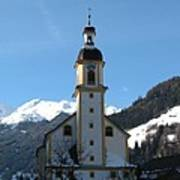 Church In The Austrian Alps Art Print