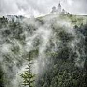 Church In The Clouds Art Print