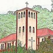 Church In The Jungle Art Print