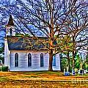 Church In The Wildwood - Paint Art Print
