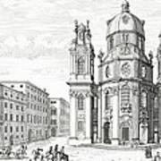 Church Of Notre Dame, Salzburg Art Print