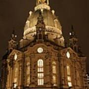 Church Of Our Lady At Night  -  Dresden - Germany Art Print