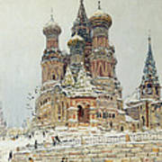 Church Of St. Basil In Moscow Art Print