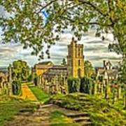 Church Of The Holy Rude Cemetery Stirling Art Print