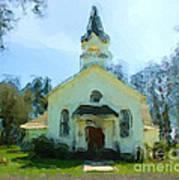 Church Of The Meadow Art Print