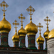 Church Of The Nativity Of Moscow Kremlin Art Print