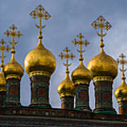 Church Of The Nativity Of Moscow Kremlin - Square Art Print