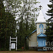 Church On Alaskan Highway Art Print