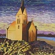 Church On The Rocks.  Art Print