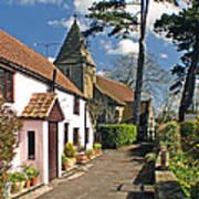 Church Path - Kenn - Somerset Art Print