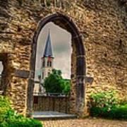 Church Ruins In Boppard Germany Art Print