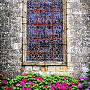 Church Window In Brittany Art Print