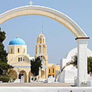 Churches Oia Santorini Greek Islands Art Print