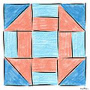 Churn Dash Block Art Print