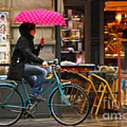 Ciclista - Milano Art Print