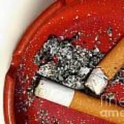 Cigarette Butts Art Print