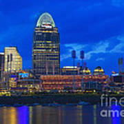 Cincinnati At Sunset Art Print