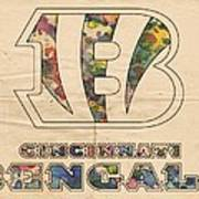 Cincinnati Bengals Logo Vintage Art Print