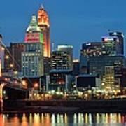 Cincinnati Blue Hour Art Print