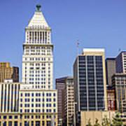 Cincinnati Downtown City Buildings Business District Art Print