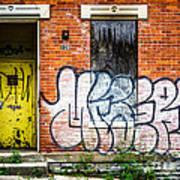 Cincinnati Glencoe Auburn Place Graffiti Picture Art Print
