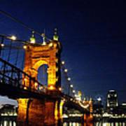 Cincinnati In Lights Art Print