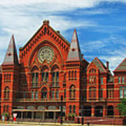 Cincinnati Music Hall Art Print