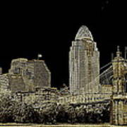 The Queen City Cincinnati Ohio Art Print