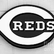 Cincinnati Reds Sign Black And White Picture Art Print