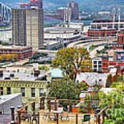 Cincinnati Rooftop 9965 Art Print