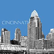 Cincinnati Skyline 1 - Slate Art Print