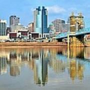 Cincinnati Skyline Reflects Art Print
