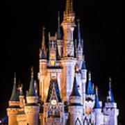 Cinderella's Castle In Magic Kingdom Art Print by Adam Romanowicz