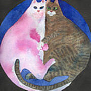 Circle Cats Art Print